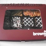 a box of delish brownies