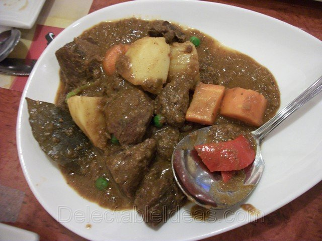 beef caldereta for lunch