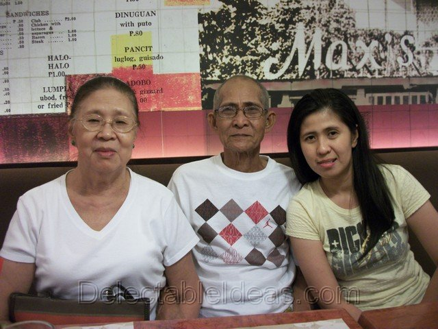 mom and dad with my sis Cecille