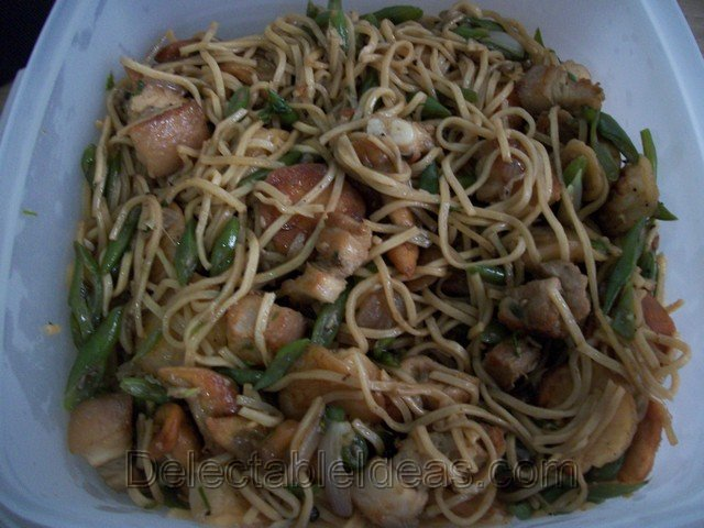 pancit canton-homemade